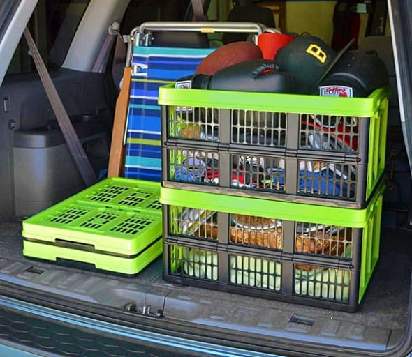 Clever Made Clever Crates Collapsible Grated Storage Container Flexible Box
