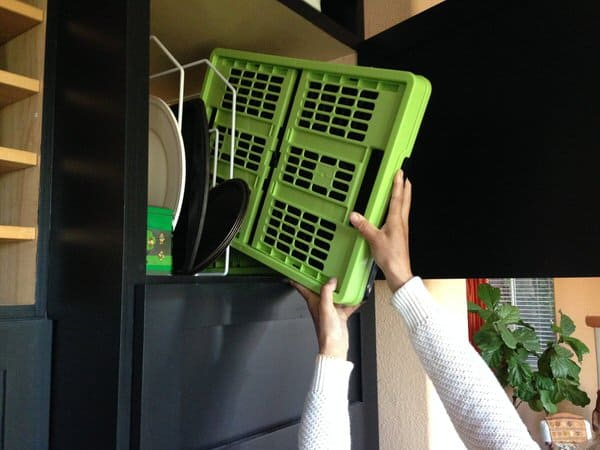 Clever Made Clever Crates Collapsible Grated Storage Container Minimal Space