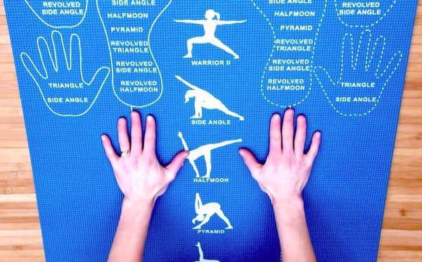 Copycat Yoga Instructional and Educational Yoga Mat Cheat Sheet