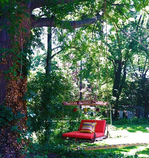 Crooked River Wood Work Pallet Lounger Romantic Garden Furniture
