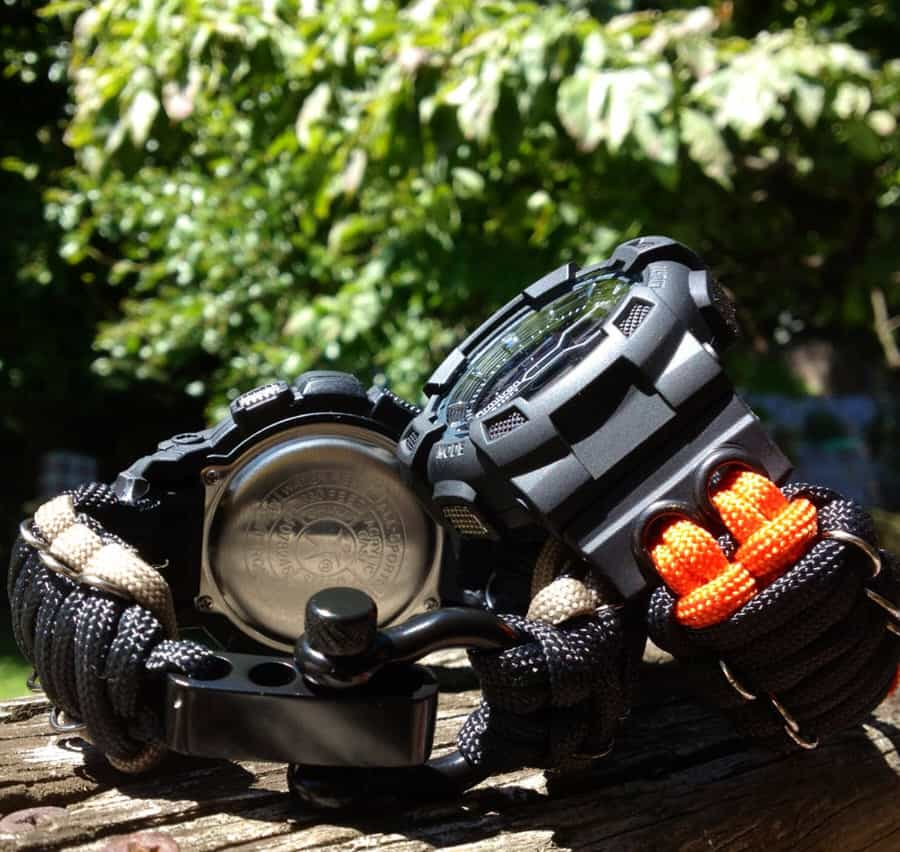 Flips Tactical 550 Gear Paracord Armitron Watch Prepper Time Piece