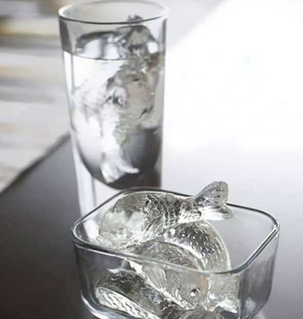 Gamago Cold Fish Flexible Ice Cube Mold Cool Kitchen Gadget