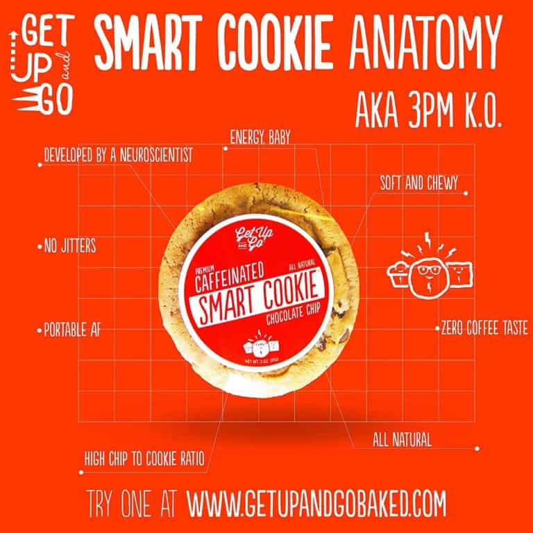 Get Up and Go Caffeinated Smart Cookies Wake Me Up Snack