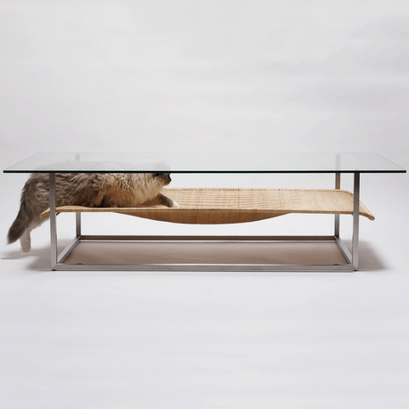 Kitty-friendly coffee table.