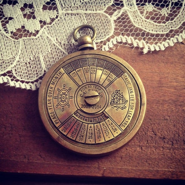 Ingredients for Lovely 1 – 50 Year Perpetual Calendar Pendant Antique Look