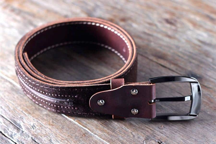 Leather Belt with Ninja Hidden Pocket  Cool Fashion Accessory for Him