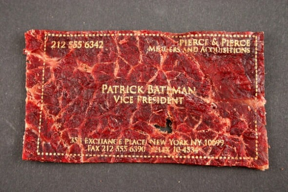 Meat Cards Cool Business Card