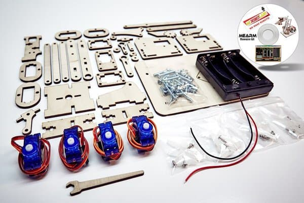 Microbot Labs MeArm DIY Robot Arm Kit Materials