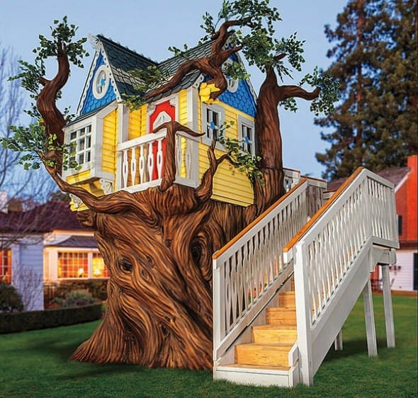 Kids Tree House monster city studios victorian tree house - noveltystreet