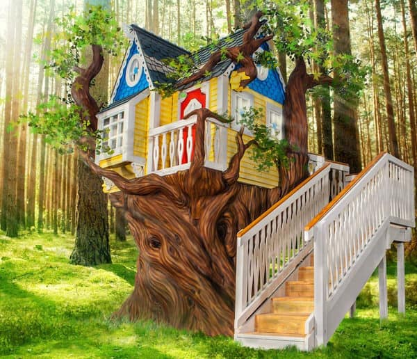 Monster City Studios Victorian Tree House Expensive Gift for Kids