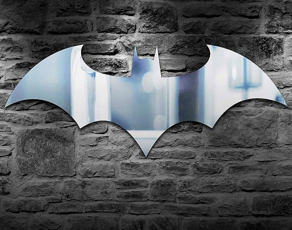 Paladone Batman Logo Mirror Cool Design for College Dorm
