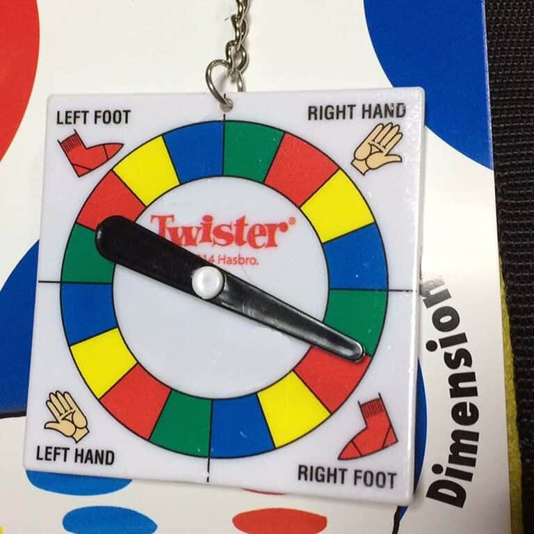 Paladone Twister Picnic Blanket Spinner Keychain