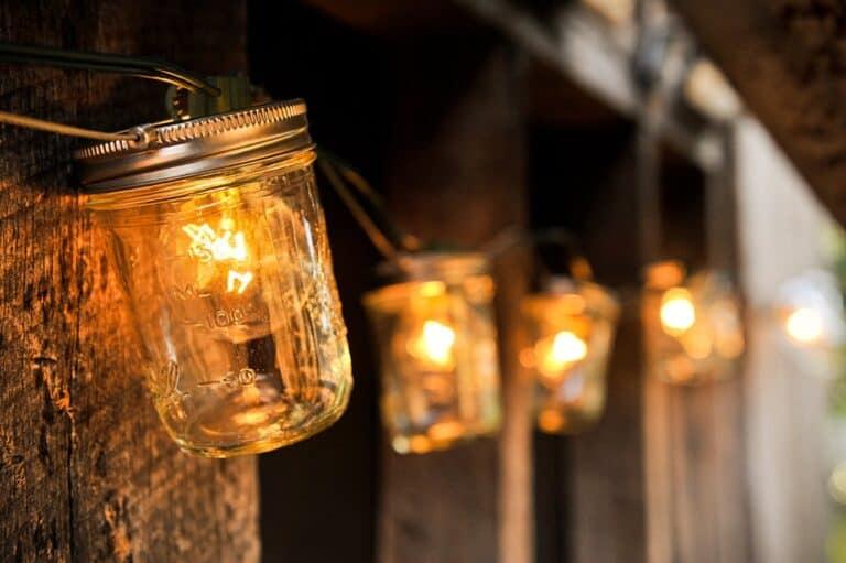 Sweet Tea Clothing Co. Mason Jar Strand with Lights Romantic Country Decor