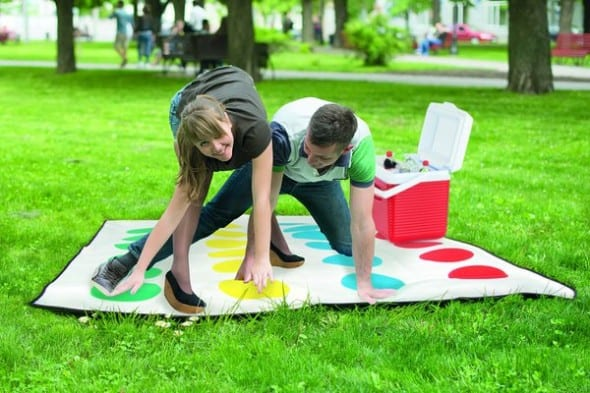 Twister Picnic Blanket Fun Outdoor Activity