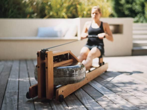 WaterRower Natural Rowing Machine Fun Workout