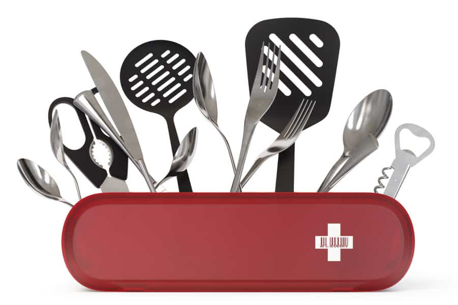 Art Lebedev Studio Swissarmius Kitchen and Desk Organizer Swiss Army Knife Inspired Design