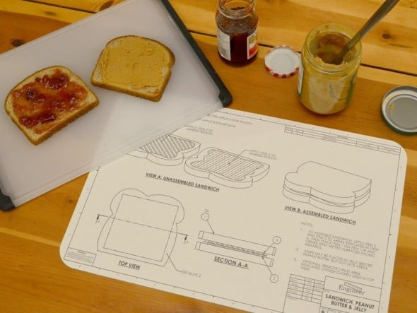 Awkward Engineer Engineering Blueprint Placemat Set Cool Dining Mats