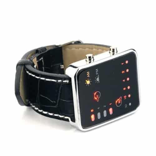 Binary Code Digital Display LED Watch Buy Retro Accessory