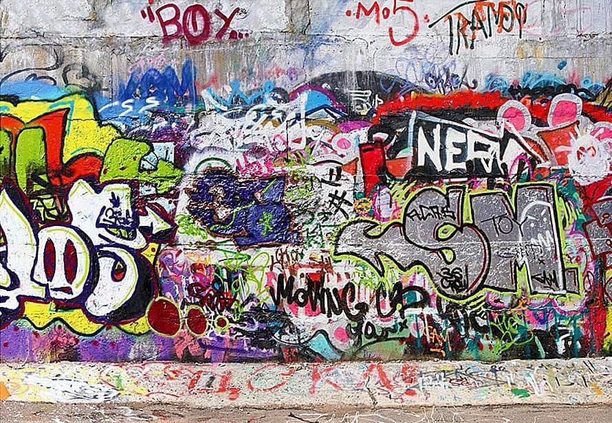 Cool Graffiti Photo Wall Mural Kid Bedroom Wallpaper