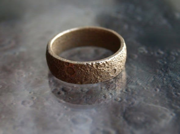 Cunicode 3D Printed Moon Ring Unique Gift Idea