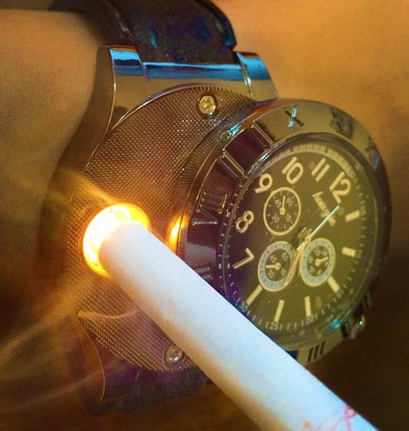 Digital USB Lighter Watch Cool Novely Item