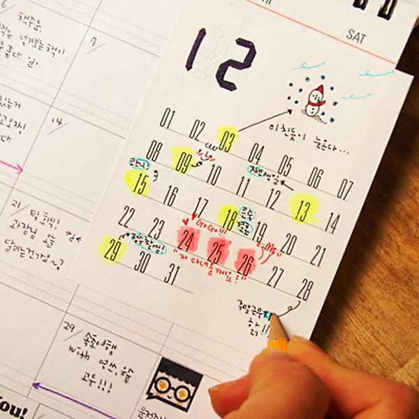 Dubu Dumo Monthly Planner Sticky Note Cool Stationary