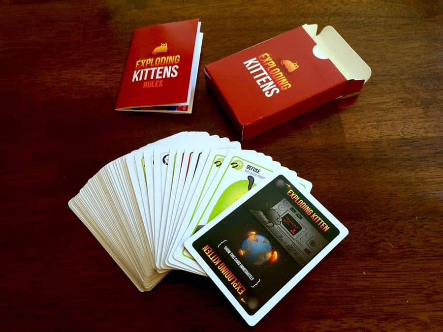 Exploding Kittens Card Game Party Activity