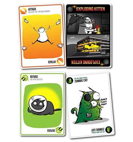 Exploding Kittens Card Game Zombie Cat