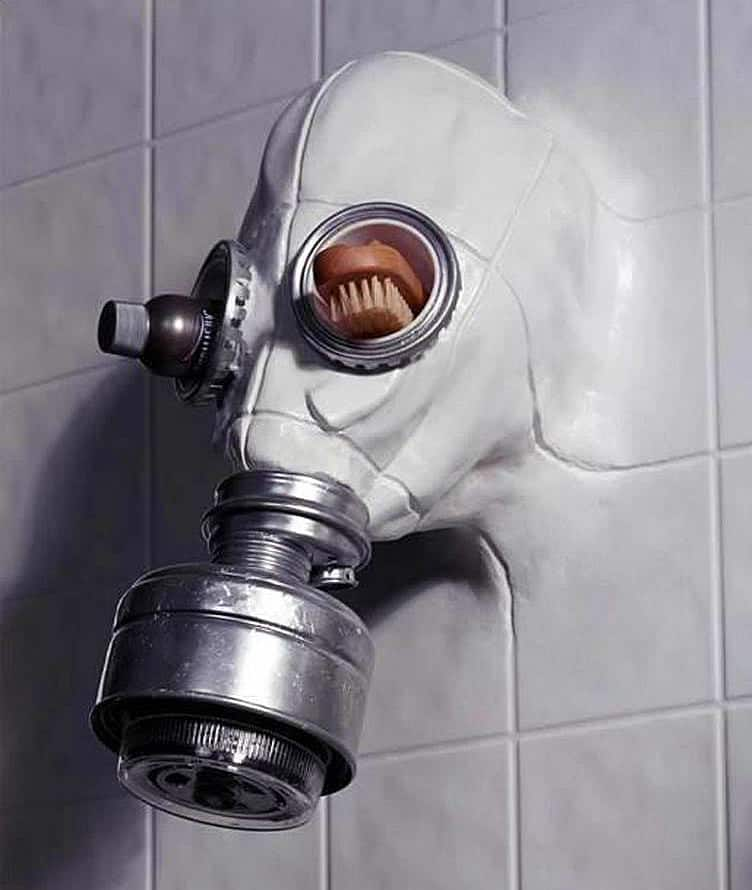 Gas mask shower head by chris dimino noveltystreet you cannot relax in the shower anymore voltagebd Images