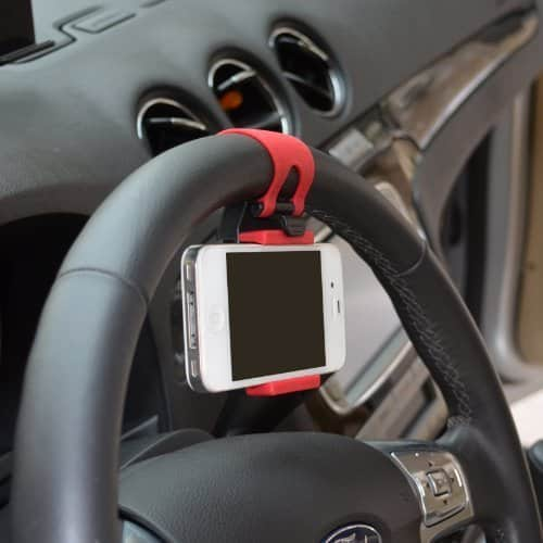 Hands Free Steering Wheel Phone Holder Cool Invention
