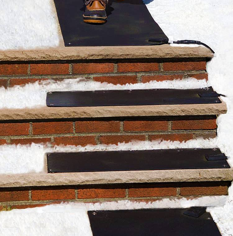 HeatTrak Residential Snow-Melting Stair Mat Avoid Slipping