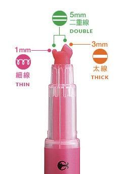 Kokuyo Beetle Tip 3-Way Highlighter Pen Innovative Japanese Design
