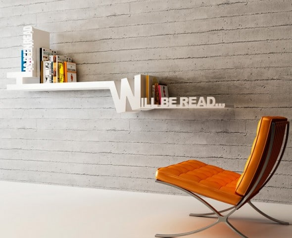 Meb Rure Typographic Bookshelf Cool Condo Design