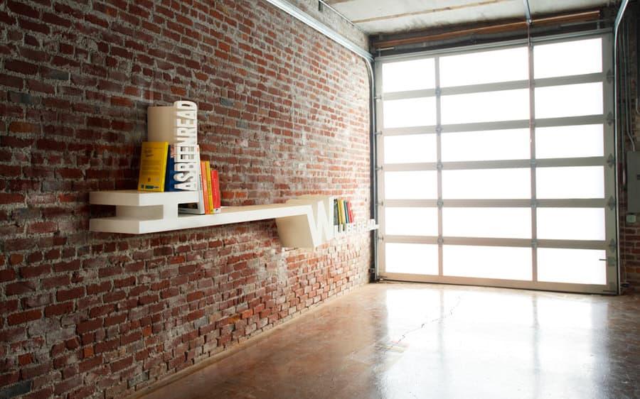 Meb Rure Typographic Bookshelf Cool Garage