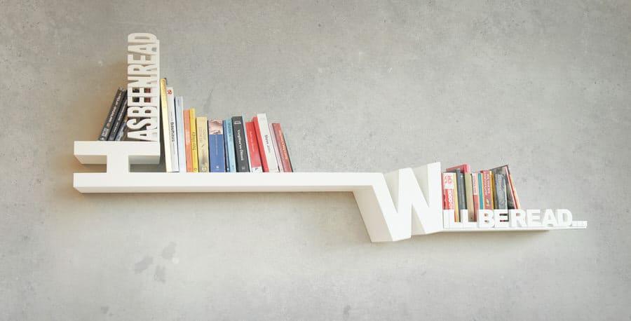 Meb Rure Typographic Bookshelf Designer Fixture