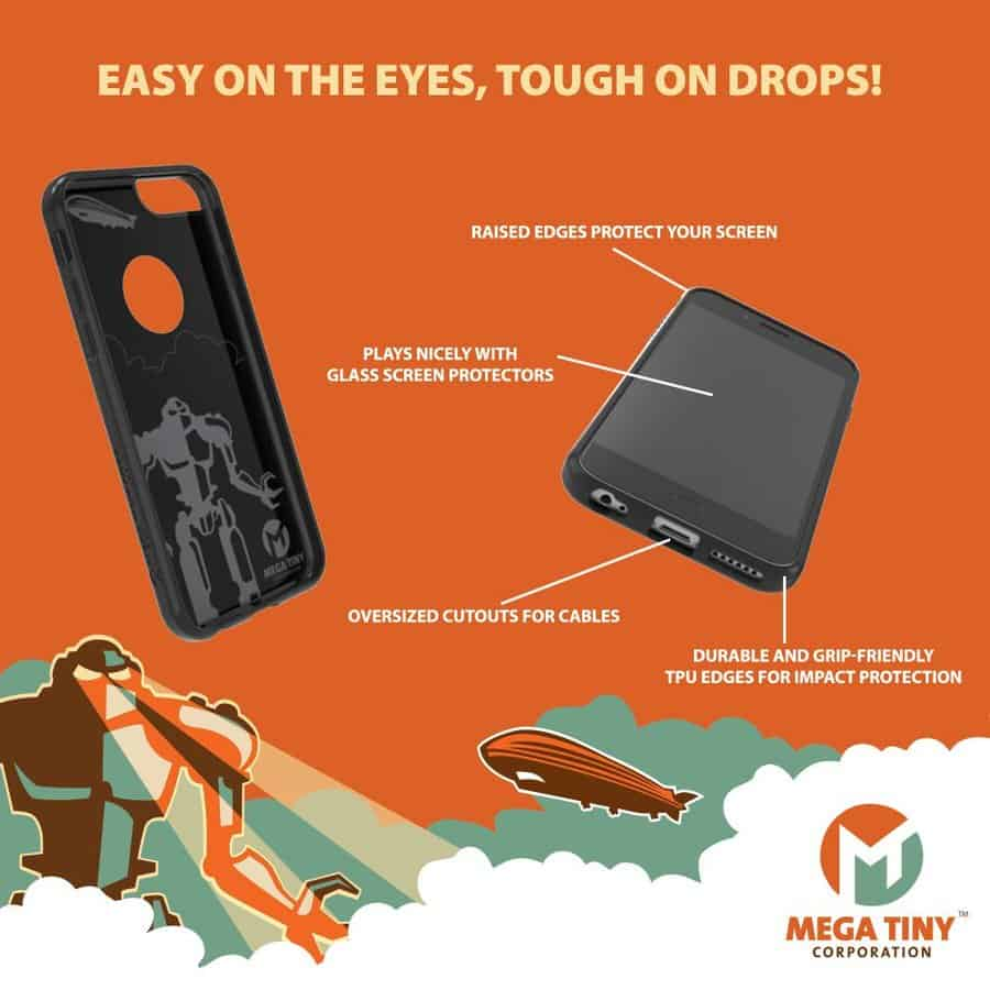 Mega Tiny Corp Anti-Gravity Selfie Case for iPhone Features