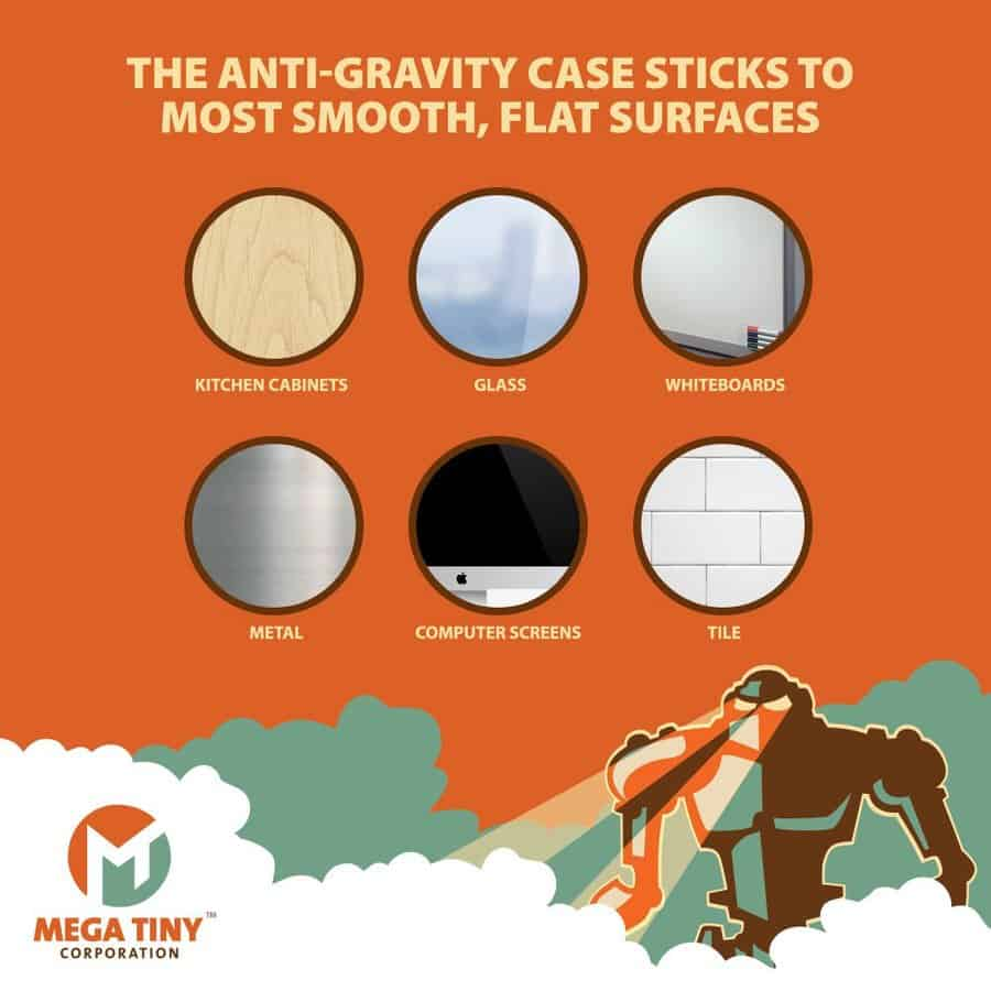 Mega Tiny Corp Anti-Gravity Selfie Case for iPhone Smooth Surface