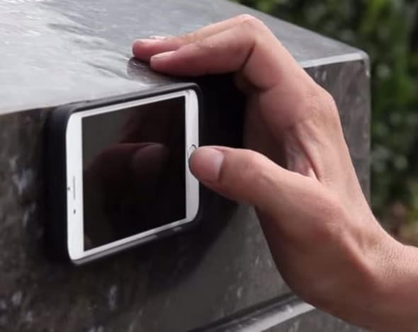 Mega Tiny Corp Anti-Gravity Selfie Case for iPhone Stick on Wall