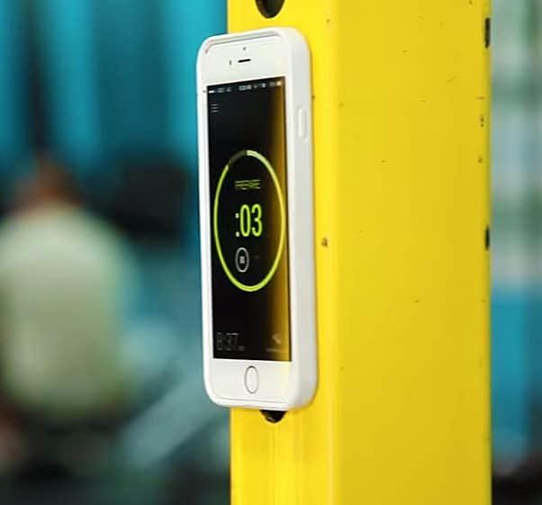 Mega Tiny Corp Anti-Gravity Selfie Case for iPhone Yellow Post