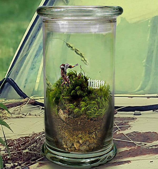 Moss Love Beware Tiny Zombie Terrarium Unique Gift Idea to Buy