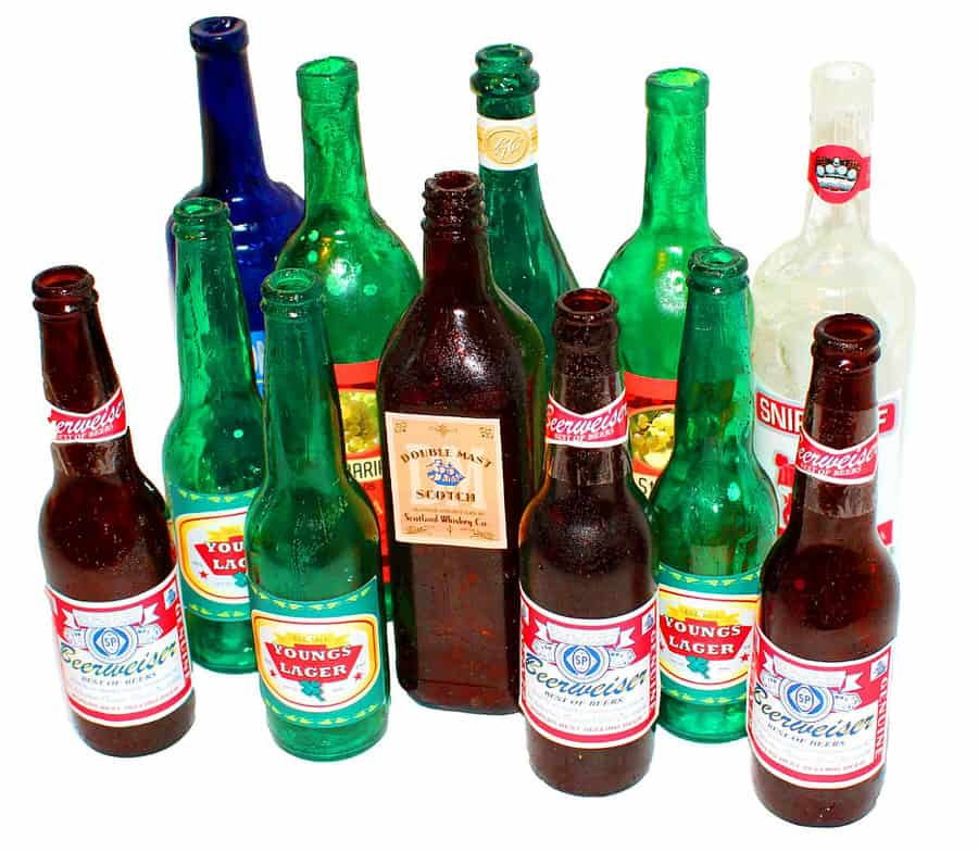 New Rules FX Beer Bottles Smash Props Fake Glass