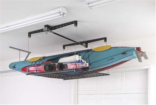 Racor Cable-Lifted Storage Rack Cool Garage Closet