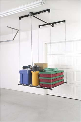 Racor Cable-Lifted Storage Rack Extra Garage Space