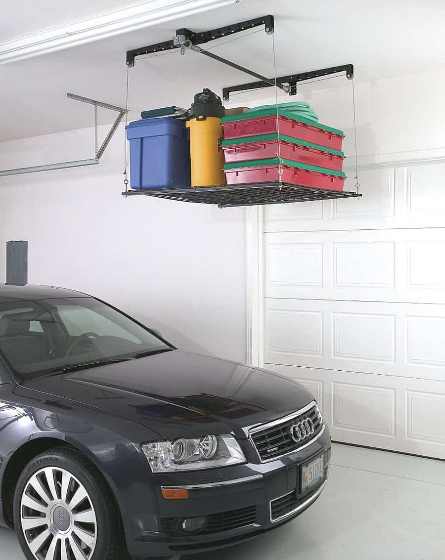 Racor Cable-Lifted Storage Rack Save Space