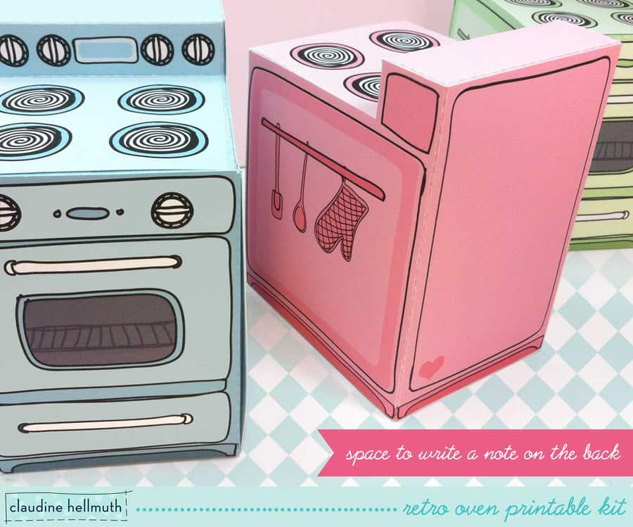 Retro Oven Cupcake Box by Claudine Hellmuth  Cute Little Thing to Buy