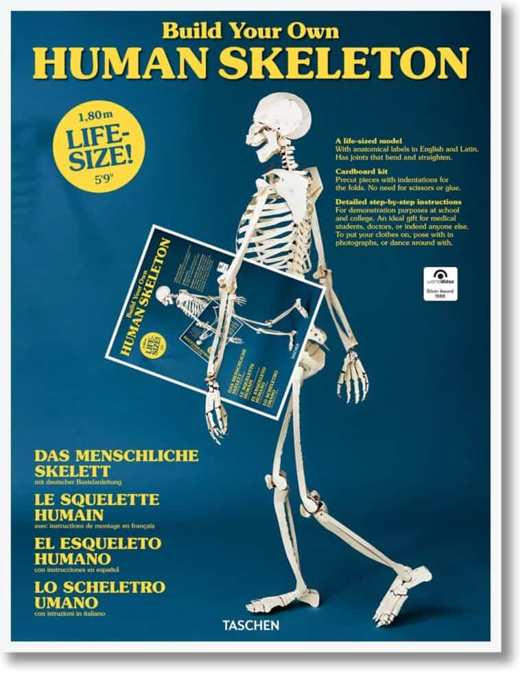 Taschen Build your Own Life Sized Human Skeleton Book DIY 3D Anatomy Model