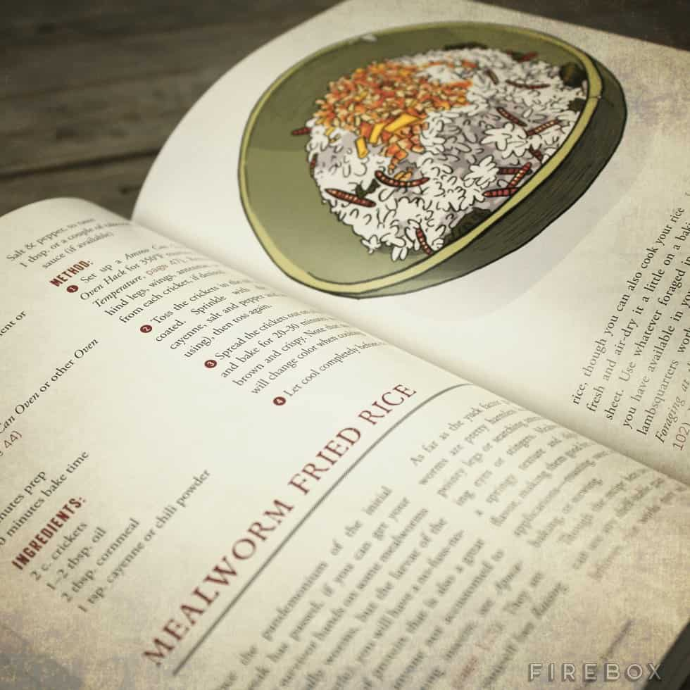 The Art of Eating Through the Zombie Apocalypse Book Mealworm Fried Rice Page
