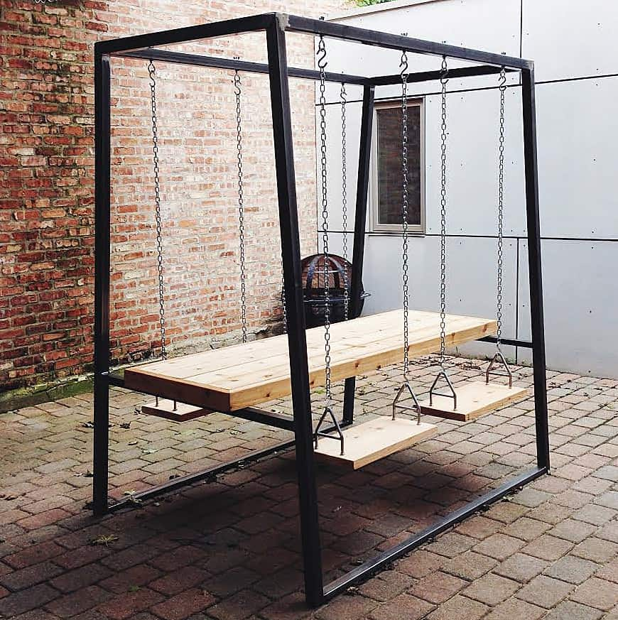 The Last Workshop Swingset Table Cool Furniture to Buy