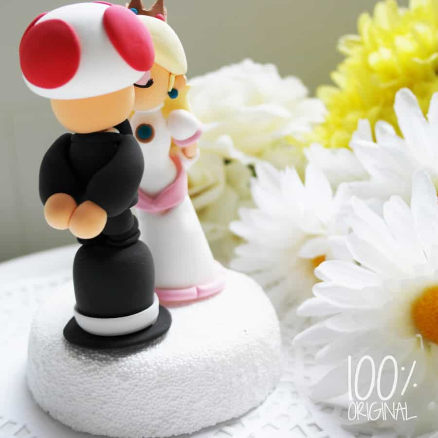 The Rosemarry Toppers Custom Mario Wedding Cake Topper Unique Design
