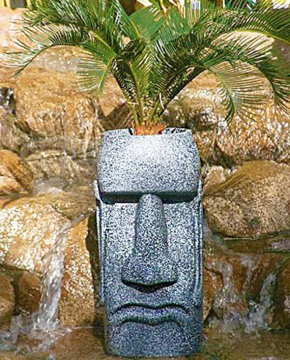 The Tiki Shop Easter Island Planter Garden Aztec Theme